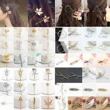 <b>Fashion Women Gold Silver</b> Geometry Triangle Hairpin Hair