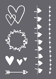 Downloade dieses freie bild zum thema herz schablone schneid datei aus pixabays umfangreicher sammlung an public domain bildern und videos. Rayher 45128000 Schablonen Set Herz Mit Selbstklebender Siebdruck Schablone Und Rakel Fur Papiergestaltung Scrapbooking Und Textiles Gestalten A4 Amazon De Kuche Haushalt