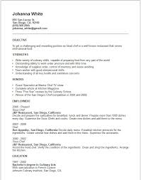 Cook Resume Objective Junior Sous Chef Cv Sample Resume Objective Examples Free Template 93