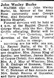 John Wesley Blake Obituary mention Sarah Reeves - Newspapers.com