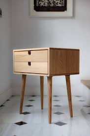 mid century modern bedside table. Mid-Century Scandinavian Side Table / Nightstand - One Or Two Drawers And Retro Legs Made Of Solid Oak Mid Century Modern Bedside S