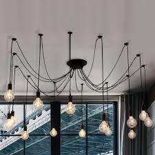 edison bulb black multi light pendant