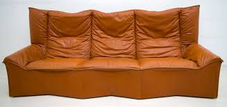 mid century leather sofa from cinova 1964 1
