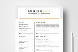 Pretty Resume Template 2 Awesome Resume Templates Creative Market