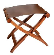 arturo luggage rack walnut coloured frame with brown leather by giobagnara