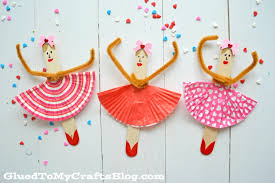 Craft Popsicle Stick Ballerinas Kid Craft Glued To My Crafts