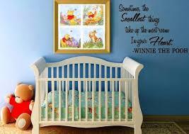 Nice DIY Winnie The Pooh Nursery With Wall Quotes Ideas