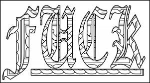 Small Picture Fuck Graffiti Words Coloring Pages Grown Ups Creative Words
