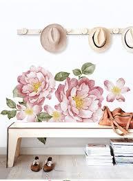 Bloemen Muursticker Schilderij Aquarel Home Decor Woonkamer Wall Art