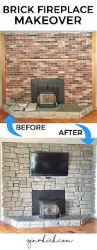 popular our brick fireplace makeover then brick fireplace makeover stone veneer fireplace stone veneer over stone