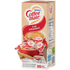 Serving size 1 tbsp (15 ml). Coffee Mate Original Liquid Coffee Creamer Singles Gluten Free Creamer 50 Ct Walmart Com Walmart Com
