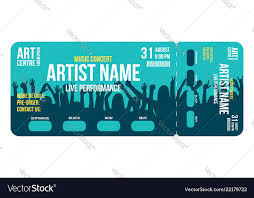 Concert Invite Template Concert Ticket Template Concert Party Or Festival