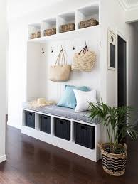 Inspiration for a small beach style dark wood floor mudroom remodel in Gold  Coast - Tweed
