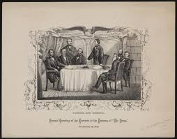The Press Cabinet Lincoln And Cabinet Annual Greeting Of The Carriers To The