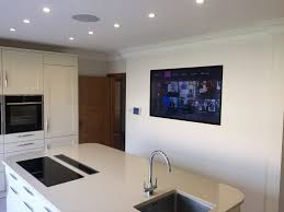 best decorating ideas wall mounted tv in kitchen on a budget