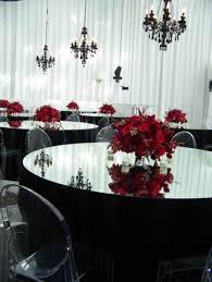 Wedding Red And Black Theme Ideas Wedding Party Theme Decor