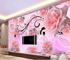 Wallpaper 3d Flower Rose 3d Stereo TV ...