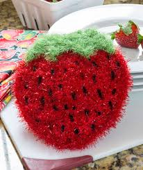 Red Heart Scrubby Pattern Beauteous Strawberry Sparkle Scrubby Red Heart