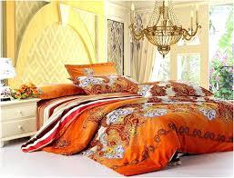 orange comforter queen burnt
