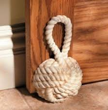 Delighful Decorative Door Stoppers Nautical Sailor Knot Cast Iron For Beautiful Design