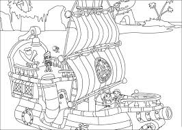 Small Picture and the Never Land Pirates coloring pages
