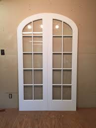 custom wood arched top double french doors