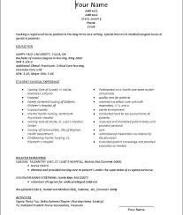 New Graduate Nursing Resume Template All About Letter Examples