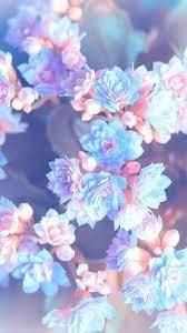 Iphone Wallpaper Blue Flowers