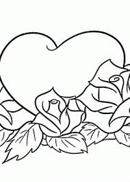 Small Picture Flower With Heart Coloring Pages Coloring Pages