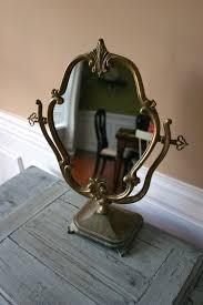 vintage vanity mirror on stand stunning antique with makeup ornate feminine decorating ideas 29