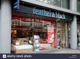 the store front of the feather black bedroom furniture bedding