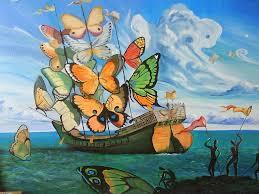 artworkship with erfly sails salvador dali