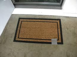 Outdoor Mats For Front Door With Simple Border Double Door Doormat - Exterior doormat
