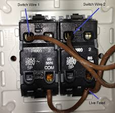 two gang light switch wiring diagram uk two image how to wire up a two gang light switch jodebal com on two gang light switch