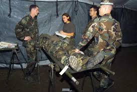 Combat Corpsman Patients Await Diagnoses From Hospital Corpsman For Mock
