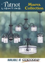 Patriot Lighting Ceiling Fan Parts The Patriot Lighting Maeva Lighting Collection Offers A