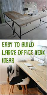 how to build an office. Appealing These Easytobuild Large Home Office Desk Ideas Require Very Pic Of How To Build An T