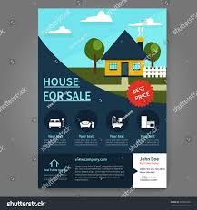 Poster Templet Real Estate Broker Flyer Poster Template Stock Vector Royalty Free