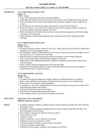Data Processing Resume Samples Velvet Jobs