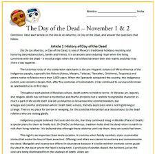 Dia De Los Muertos And Halloween Venn Diagram El Dia De Los Muertos Day Of The Dead Reading Activities Sub Plan