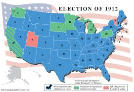 Presidency Chart Woodrow Wilson United States Presidential Election Of 1912 United States