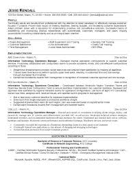 It Manager Resume Retail Sample Skills Areas Construction Keywords