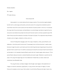 Example Of Poem Analysis Essay Rome Fontanacountryinn Com