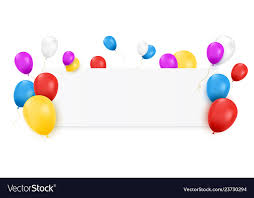 Blank Birthday Banner Blank Banner With Color Balloons