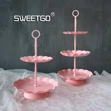 Sweetgo Wave Edge Cupcake Stand 2 Tiers Cake Tray Wedding Cake
