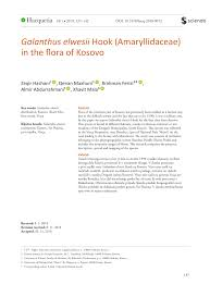 (PDF) Galanthus elwesii Hook (Amaryllidaceae) in the flora of Kosovo