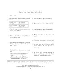 Ratios and-unit-rates-questions