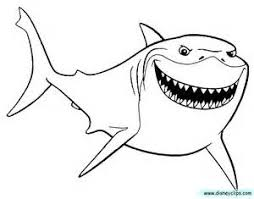Small Picture Finding Nemo Shark Coloring Sheet Coloring Pages Pixar Colouring