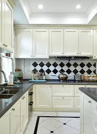 black and white kitchen tiles white kitchen cabinets black and white tile backdrop white tiles black grout kitchen splashback
