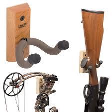 hardwood vertical hanger and bow holder